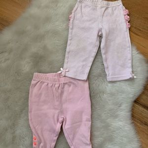 Baby girls soft pants size 3 months